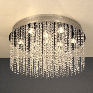 Classic Lighting Crystal Rain 10-Light Flush Mount