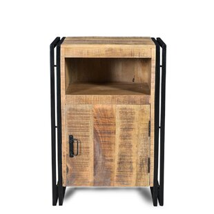 Saskia Mango Wood Nightstand by Millwood Pines
