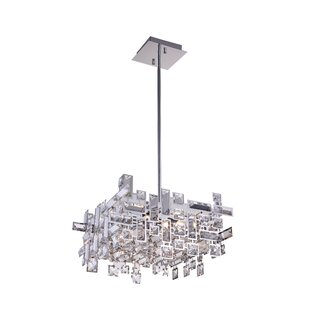 Arley 8-Light LED Crystal Chandelier by CWI Lighting