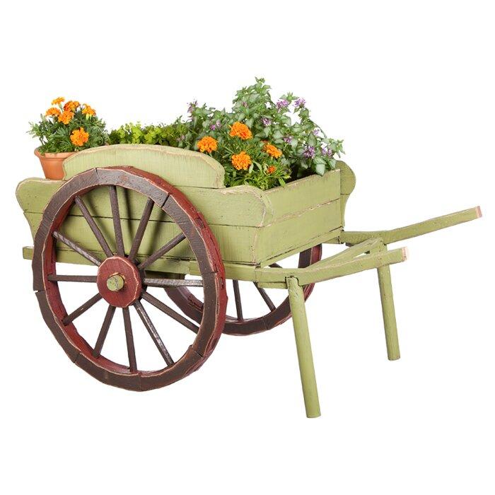Evergreen Flag Garden Wood Wheelbarrow Planter Reviews Wayfair