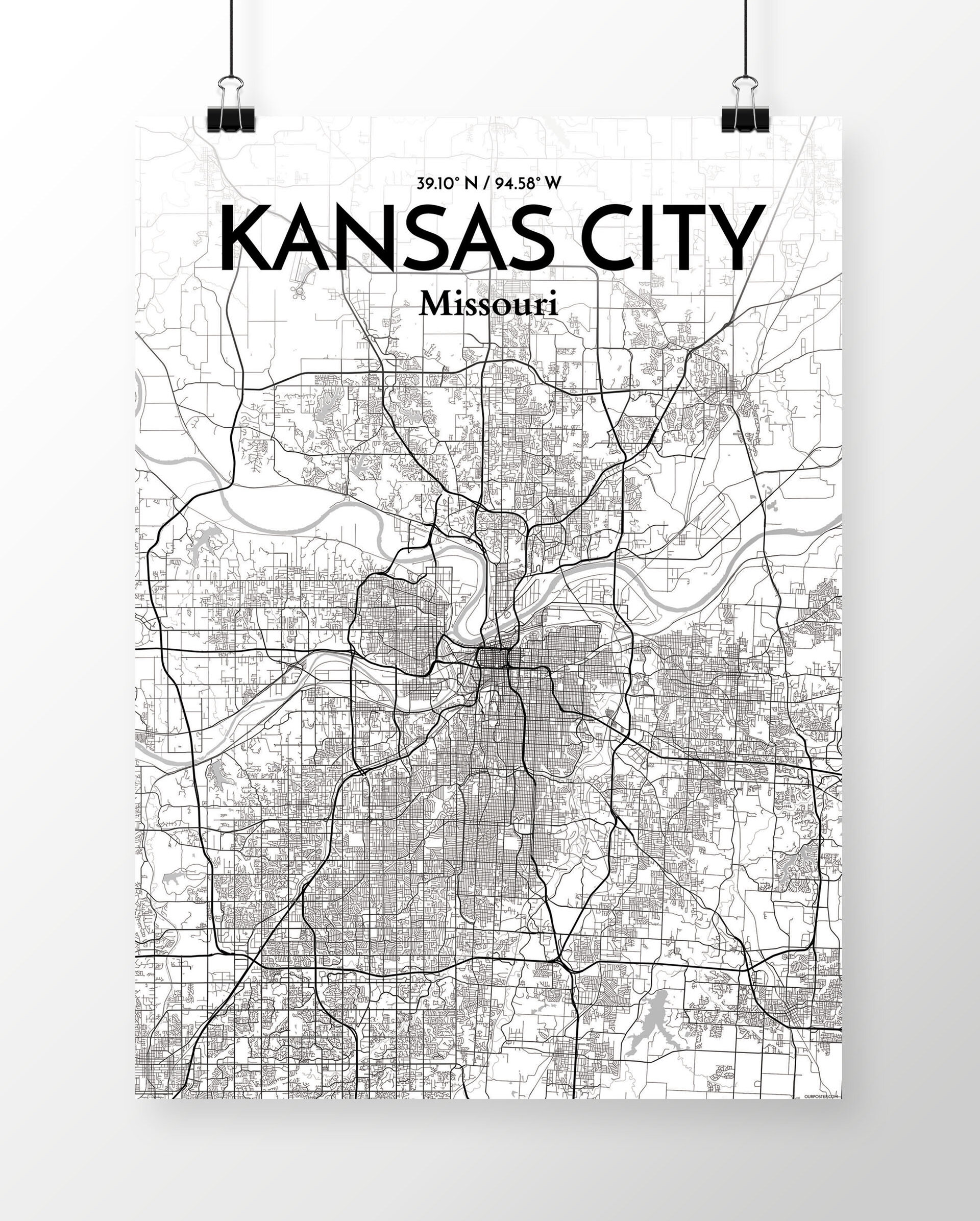 'Kansas City City Map' Graphic Art Print Poster in White/Gray on des moines map, hutchinson kansas map, united states map, kansas county map, florida map, indianapolis map, johnson county map, st. louis map, overland park kansas map, junction city ks map, cincinnati map, arkansas map, north kansas map, north carolina map, chicago map, lawrence kansas map, hays kansas map, minneapolis map, southeast kansas map, austin map,