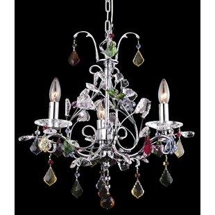 House of Hampton Dow 3-Light Crystal Chan..