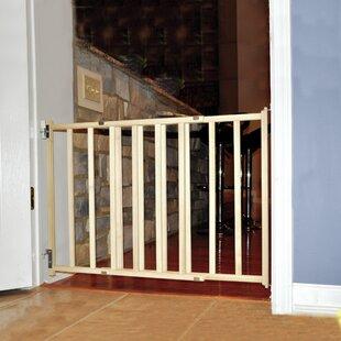 GuardMaster III Wood Slat Walk Thru Pet Gate