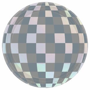 New Year's Disco Ball Drop Round Paper Appetizer Plate (Set of 128)