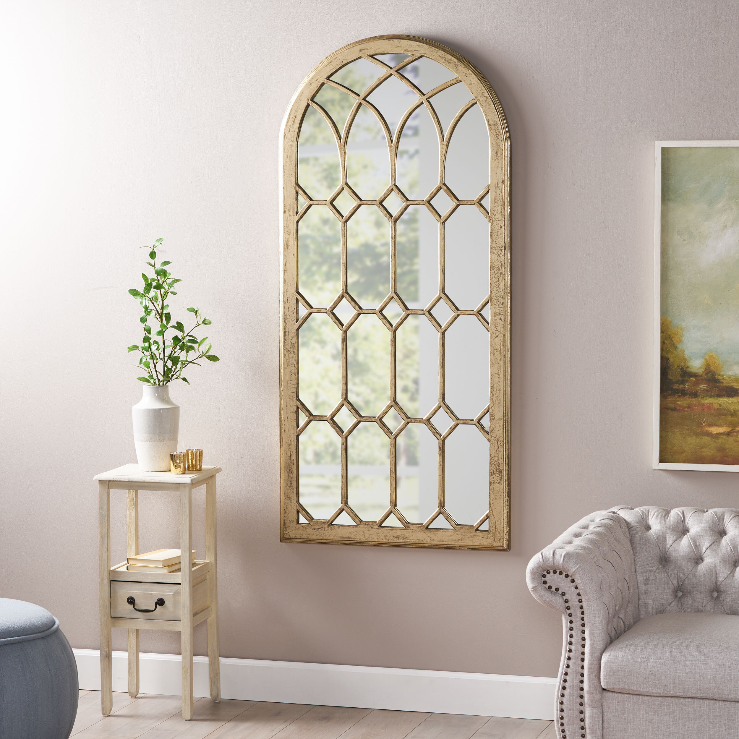 Ophelia Co Aenwood Arched Traditional Accent Mirror Reviews Wayfair