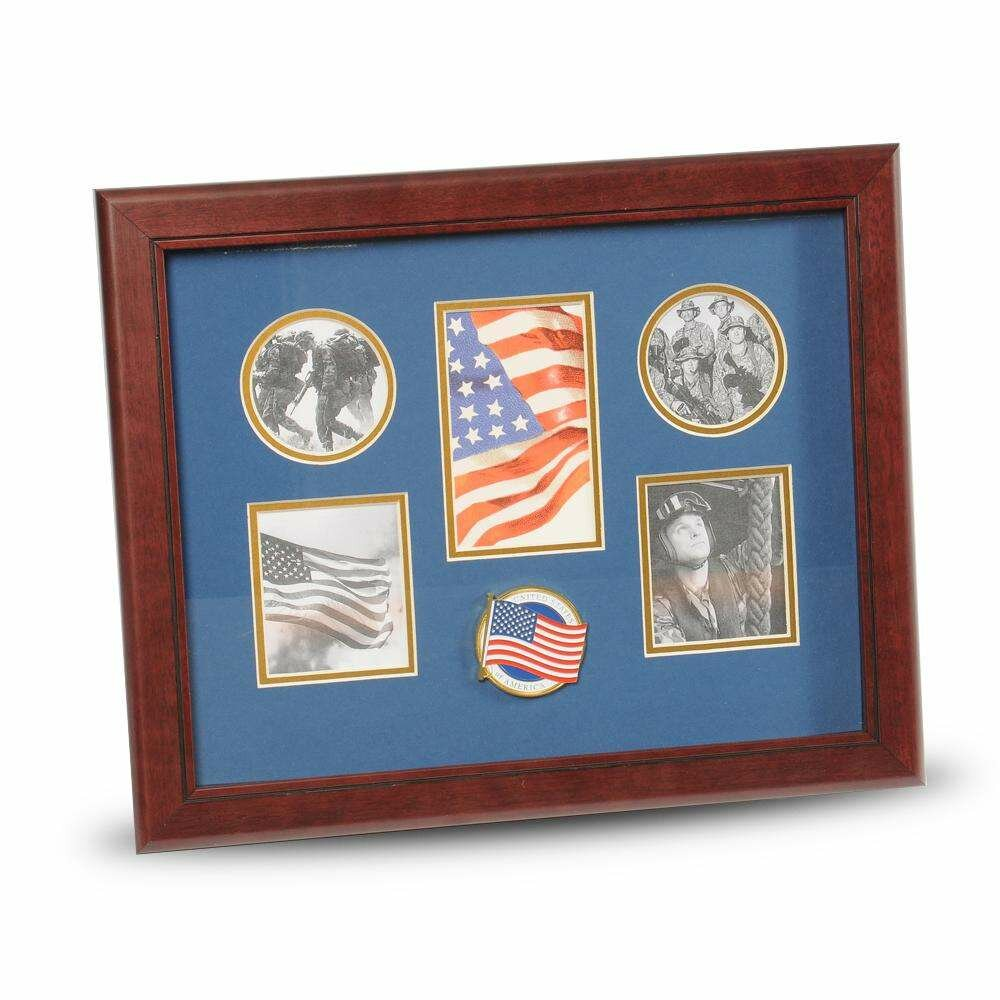 Red Barrel Studio Aylin American Flag Medallion Picture Frame Wayfair