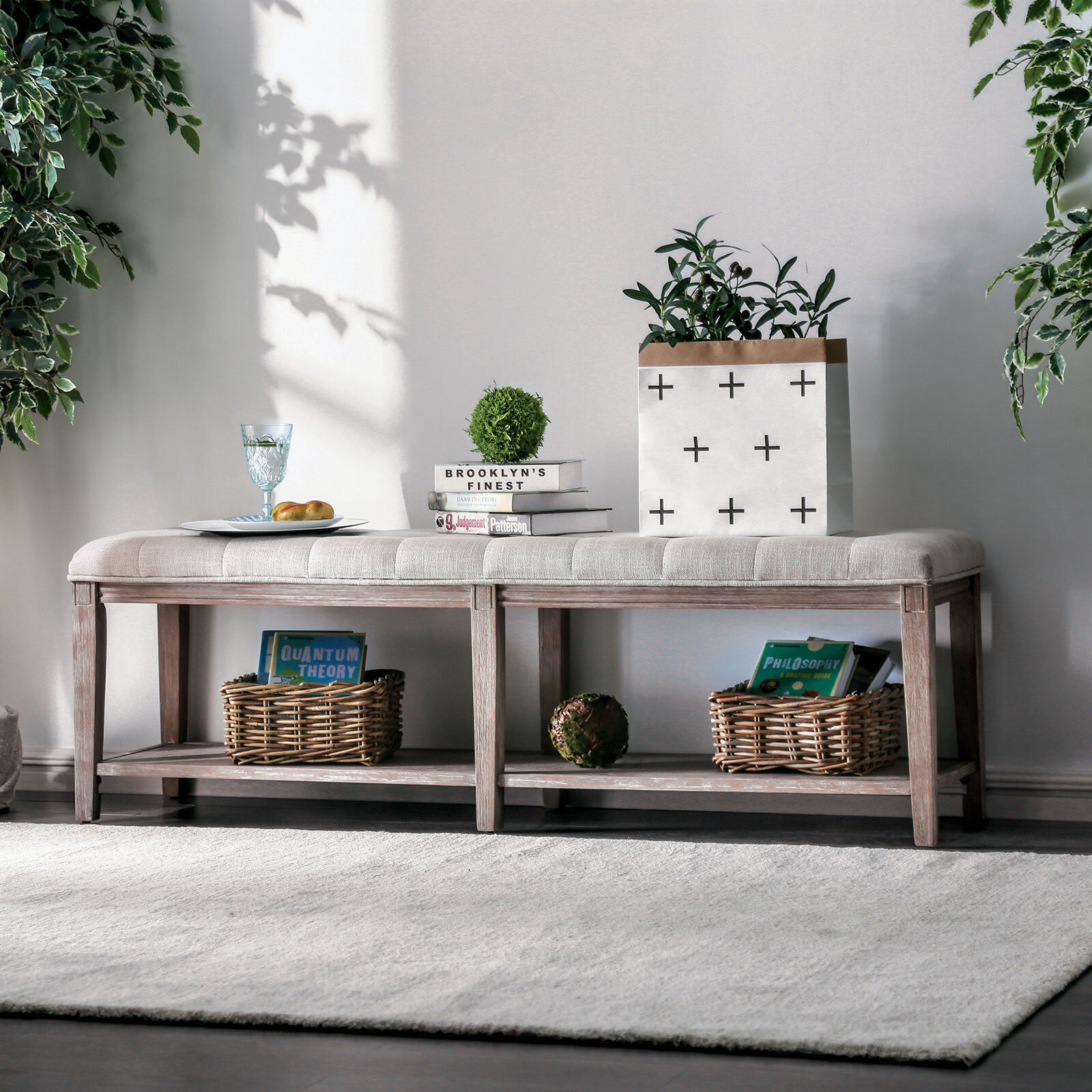 Phenomenal Varela Upholstered Storage Bench Gmtry Best Dining Table And Chair Ideas Images Gmtryco