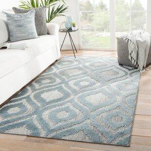 Ezzine Trellis Gray/Blue Indoor/Outdoor Area Rug