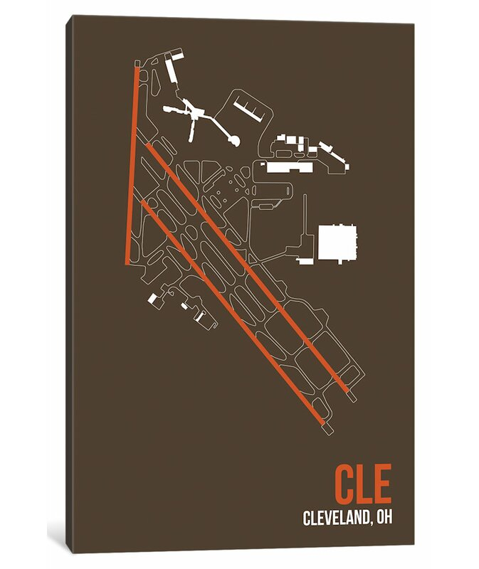 East Urban Home Airport Diagram Series 'Cleveland Hopkins' Graphic Art  Print on Canvas | Wayfair