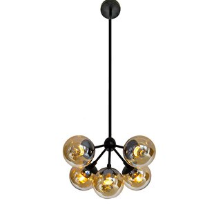 George Oliver Wildwood Bulb Glass 5-Light Chandelier