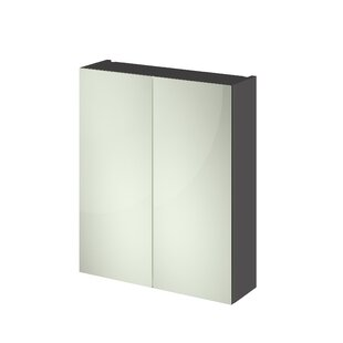 60 X 71cm Mirrored Wall Mounted Cabinet By Hudson Reed