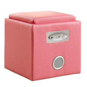 Reverb Cube Ottoman with Bluetooth Speakers by Hokku Designs