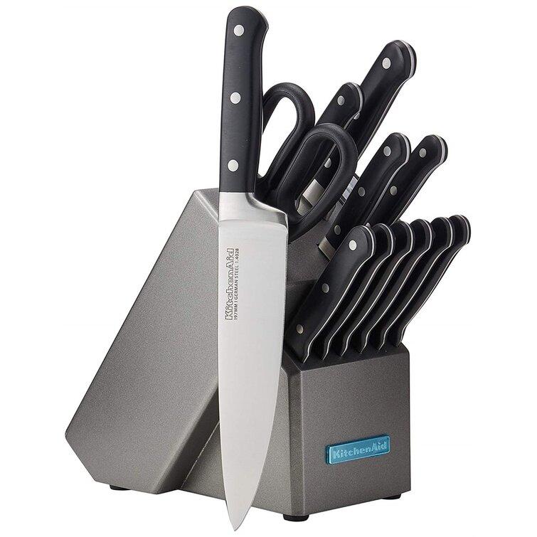 Kitchenaid Classic Forged 14 Piece Triple Rivet Cutlery Knife Block Set Reviews Perigold