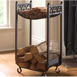 Compact Cast Iron Scrollwork Design Log Rack By Plow & Hearth
