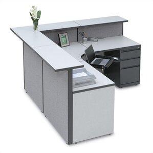 Large L Shape Reception Desk