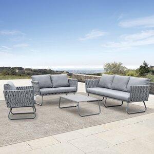 Brayden Studio Barnsley 4 Piece Sofa Seating Group With