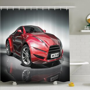 Ervin Sports Racing Fast Shower Curtain Set