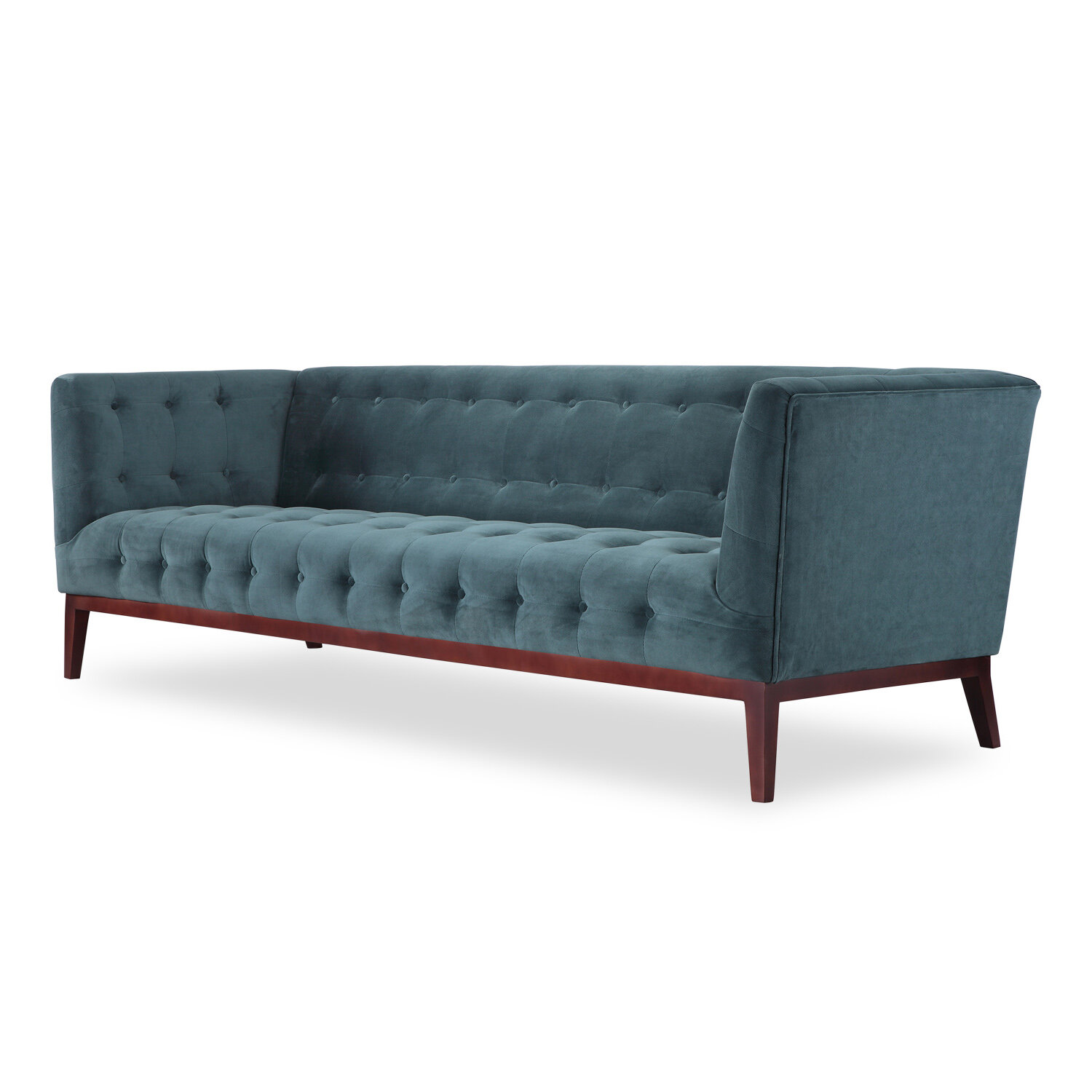 Astonishing Margaret Mid Century Modern English Tufted Chesterfield Sofa Pabps2019 Chair Design Images Pabps2019Com