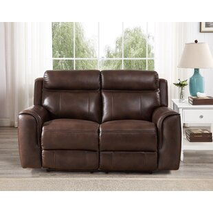 Red Barrel Studio Gurley Leather Reclining Loveseat