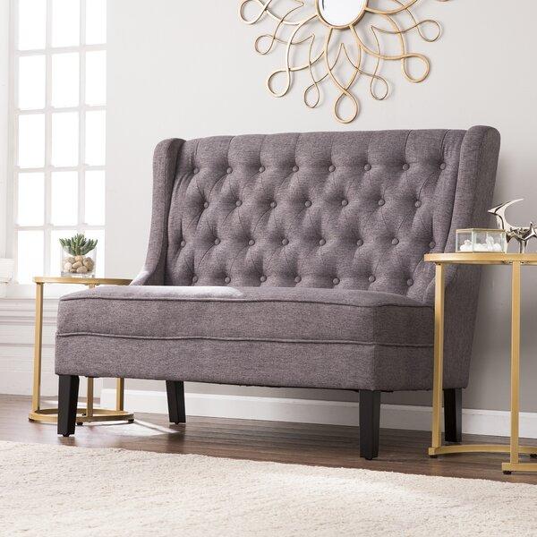 Alcott Hill Halpin High Back Tufted Settee Upholstered Bench