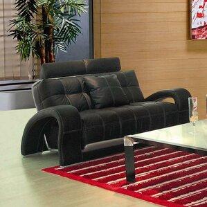 Arthur Leather Loveseat by Hokku Designs