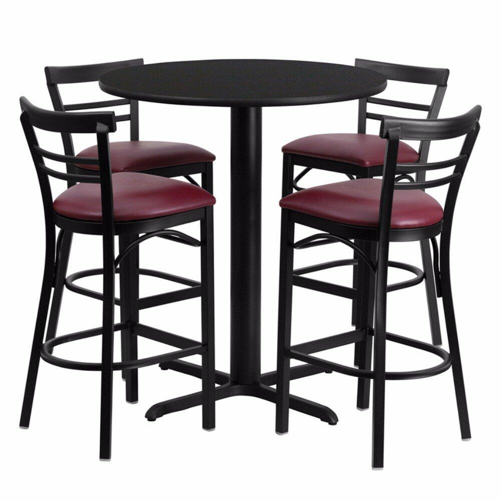 Red Barrel Studio Alvarez Modern Round Laminate 5 Piece Pub Table Set Wayfair