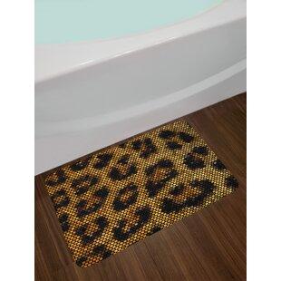 Leopard Psychedelic Bath Rug