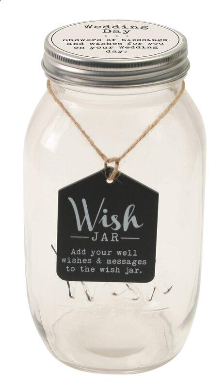 Wedding Wish Jar With Decorative Lid