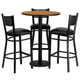 Billiot 4 Piece Pub Table Set Red Barrel Studio