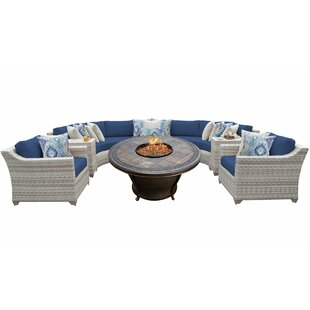 Falmouth 8 Piece Sectional Seating Group with Cushions