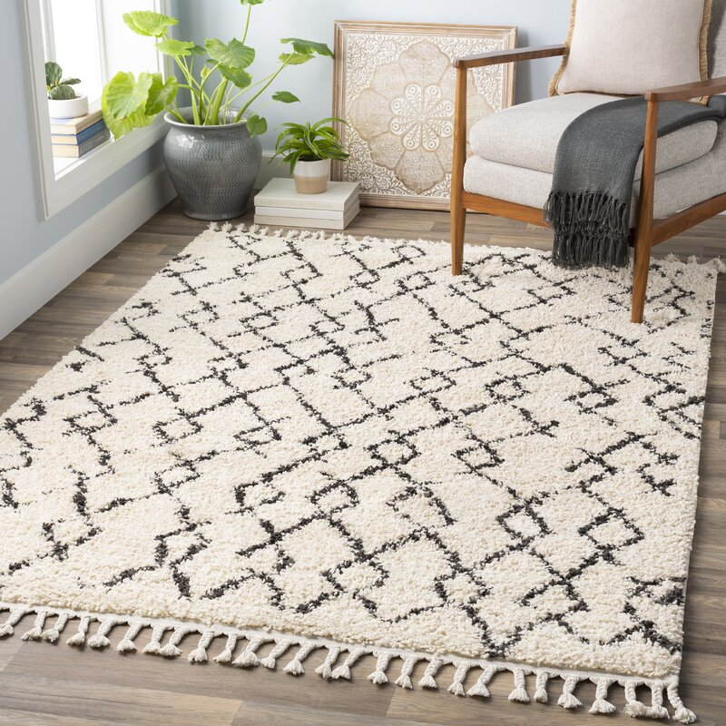 Mack Amp Milo Joaquin Cream Charcoal Area Rug Amp Reviews