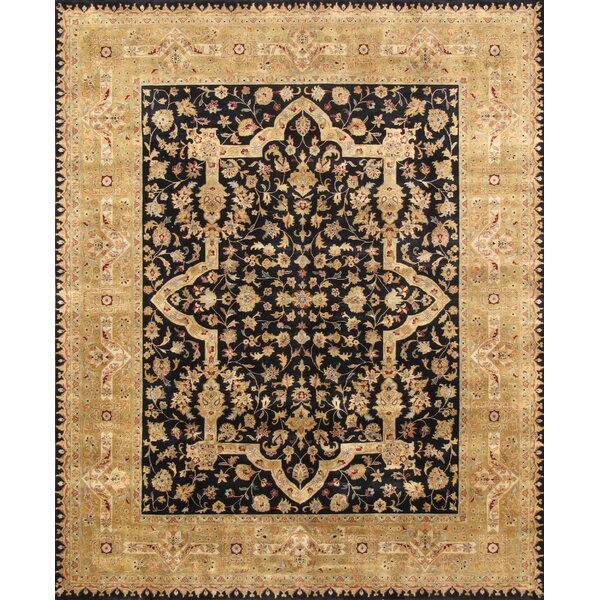 Pasargad Tabriz Hand Knotted Black Gold Area Rug Perigold