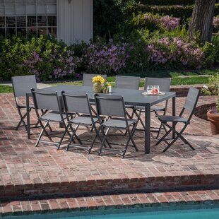 Latitude Run Ferris 9 Piece Outdoor Patio Dining Set