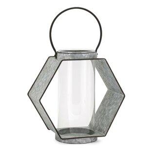 Hexagonal Iron Frame Lantern by Gracie Oaks