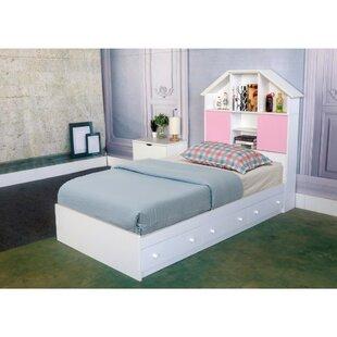 Beckner Luxurious Chest Queen Platform Bed with 3 Storage Drawers by Harriet Bee
