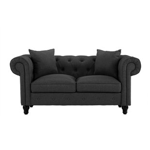 Josey Chesterfield Loveseat by House of Hampton Today Only Sale
