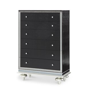 Hollywood Swank Starry Night 5 Drawer Chest