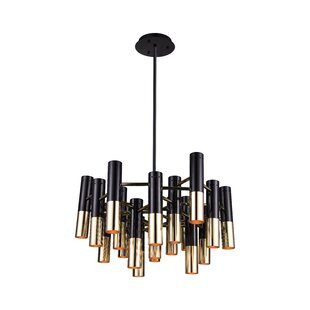 Wrought Studio Clement 19-Light Candle-Style Chandelier