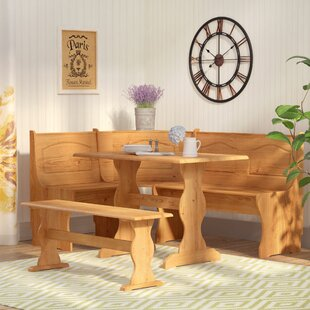 Patty 3 Piece Nook Dining Set August Grove
