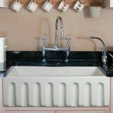 Reversible Single Bowl Fireclay Farm 30 L x 10 W Farmhouse Kitchen Sink