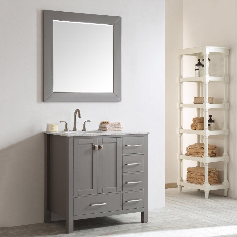 Beachcrest Home Newtown 36 Single Bathroom Vanity Set With Mirror Reviews Wayfair