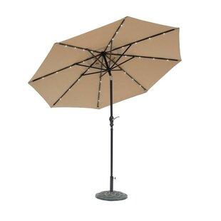 Grecia Solar Lighted 9' Market Umbrella