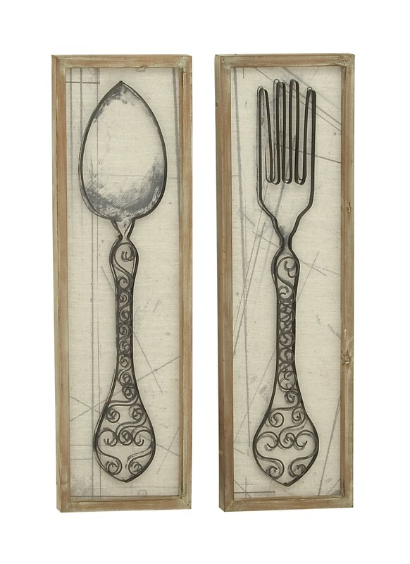 August grove superior spoon and fork wall dcor set reviews wayfair superior spoon and fork wall dcor set ppazfo