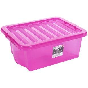 16 L Plastic Storage Box (Set Of 4) By Symple Stuff