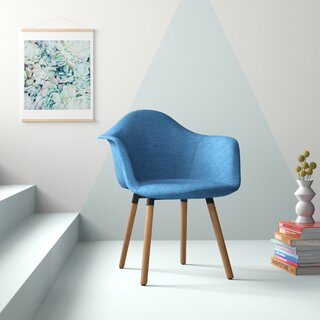 Albia Mid-Century Upholstered Dining Chair by Hashtag Home SKU:BC336958 Buy