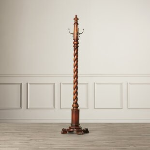 Astoria Grand Costumer Hand-Carved Coat Rack