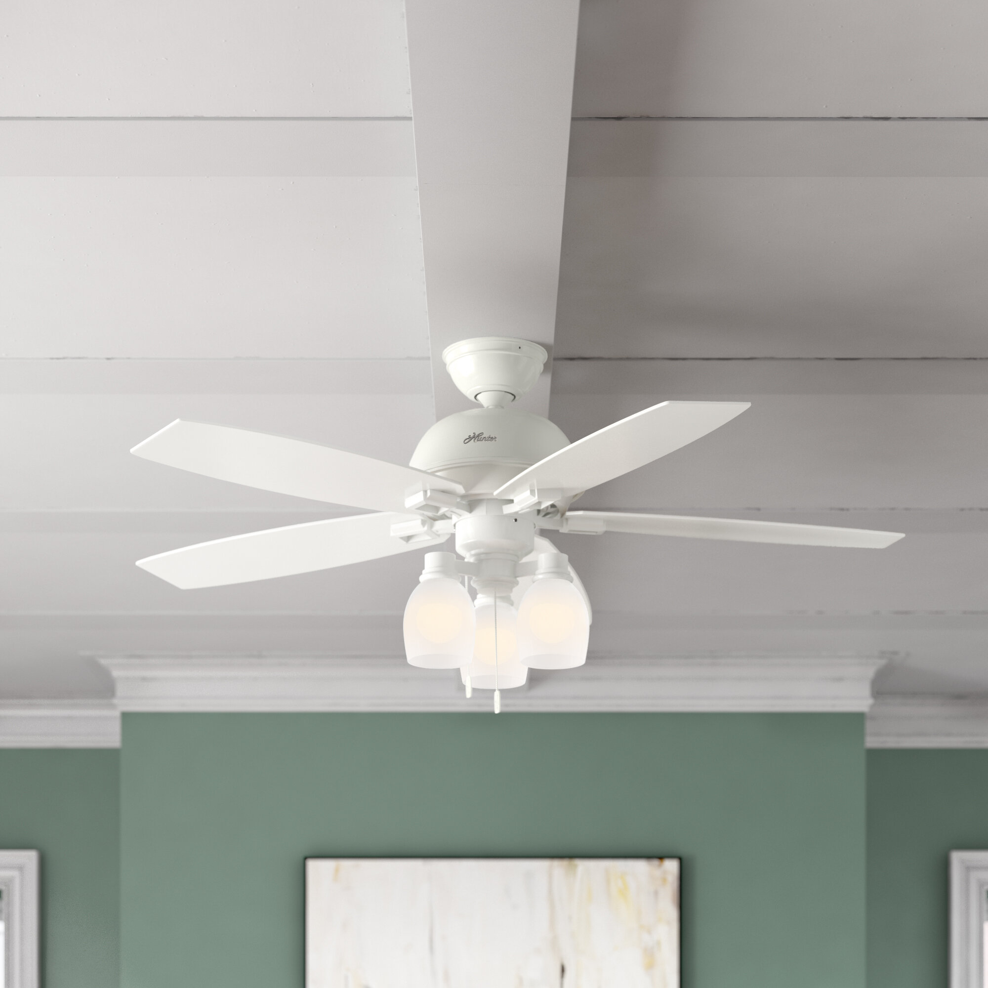 52 Donegan 5 Blade Standard Ceiling Fan With Pull Chain And Light Kit Included Reviews Joss Main
