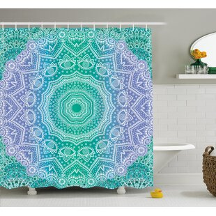 Cort Mandala Geometric Figure Shower Curtain + Hooks