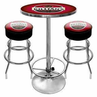 Killians Beer Game Room 3 Piece Pub Table Set Trademark Global
