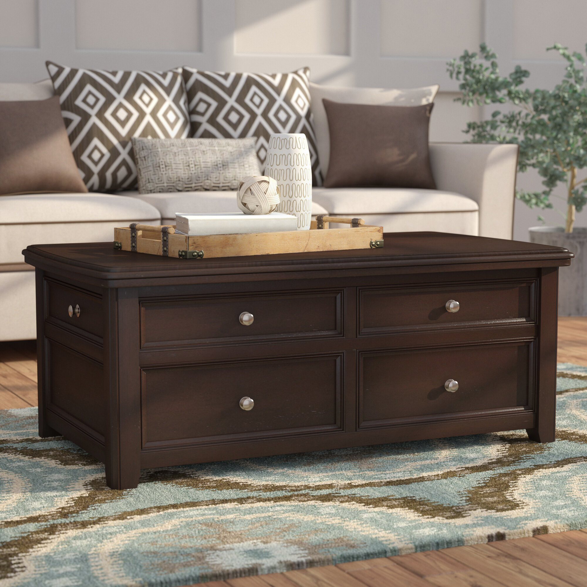 Lift Top Chest Coffee Table 11